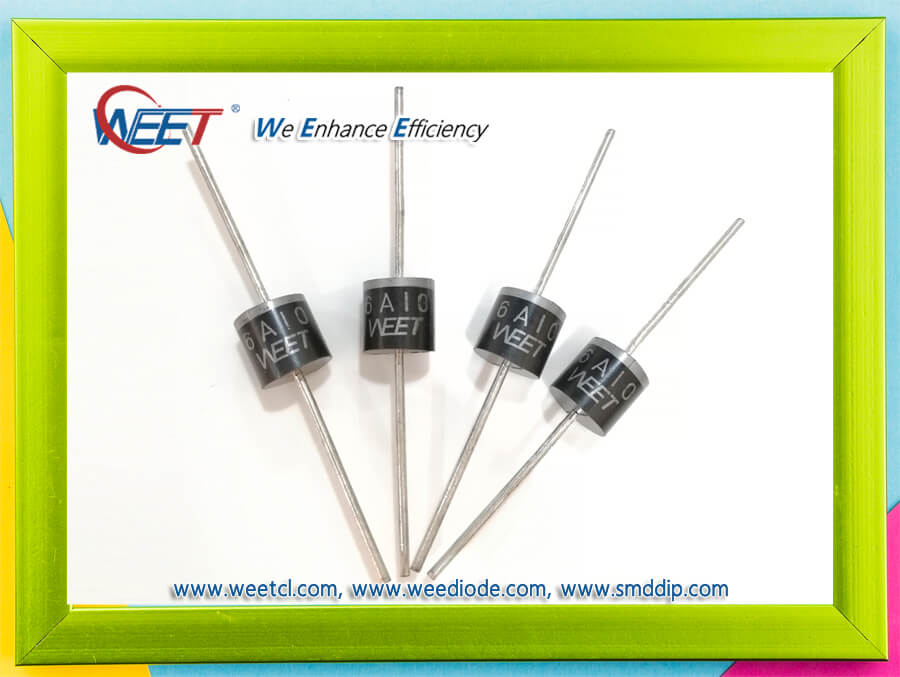 WEET R-6 6A05 THRU 6A10 General Purpose Plastic Rectifiers