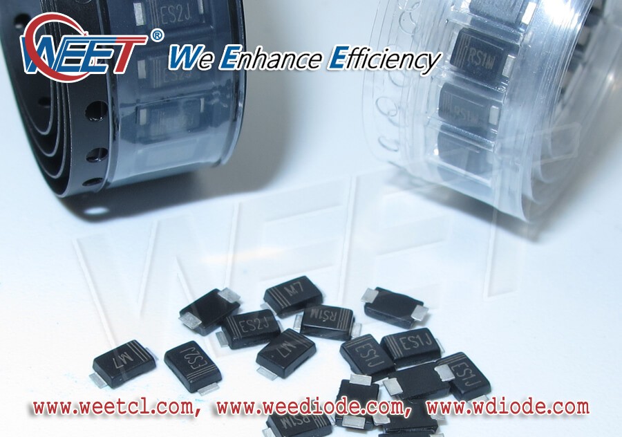 WEET Good Support in SMAF Package of Diodes and Rectifiers 10K Per Tape M7 S1M SS510F S2M