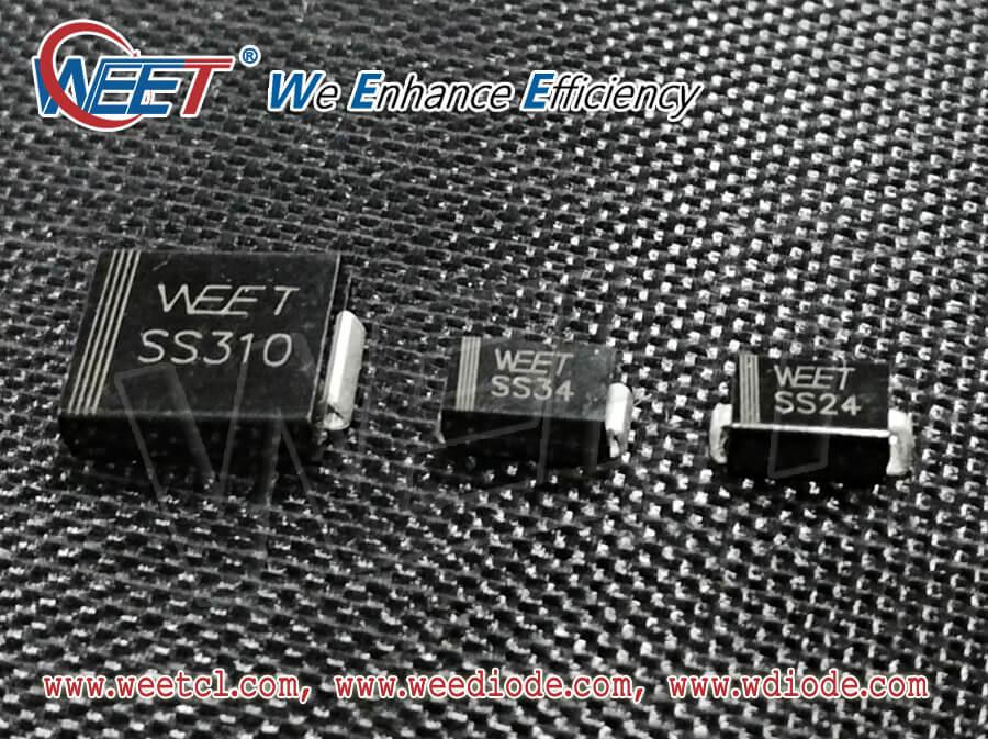 WEET SMB SS310 SMA SS34 SMA-J SS34 Surface Mount Schottky Barrier Rectifiers