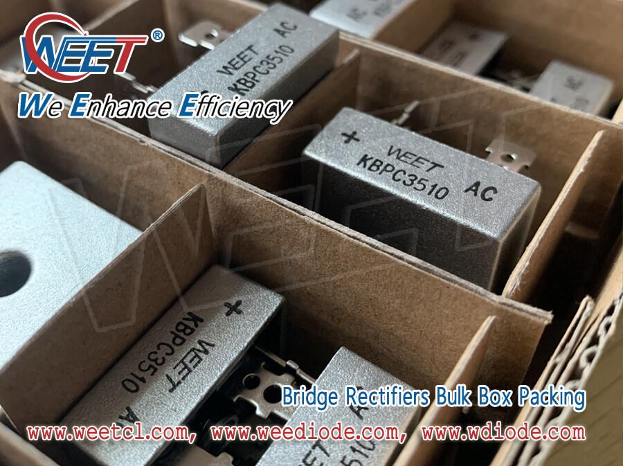 WEET Bridge Rectifiers Package Bulk Box Packing KBPC KBPC-W BR BR-W KBU KBP KBL