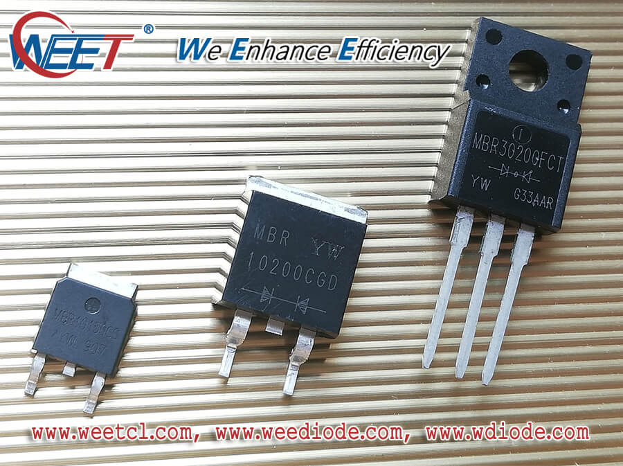 WEET MBR30300CT MBR30300FCT 30A High Barrier Power Schottky Rectifiers 300V Features