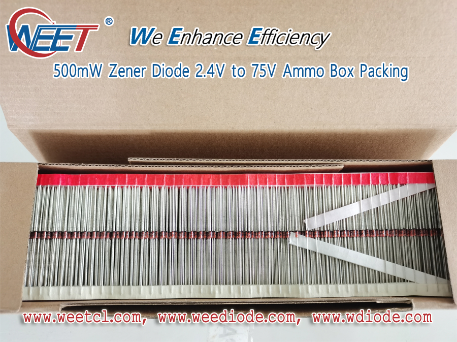 WEET One of Top Zener Diode Factory in China Foucs on 500mW Zener Diode 2.4V to 75V